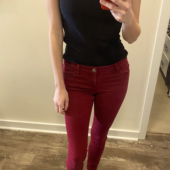 Red Express Skinny Jeans mid rise